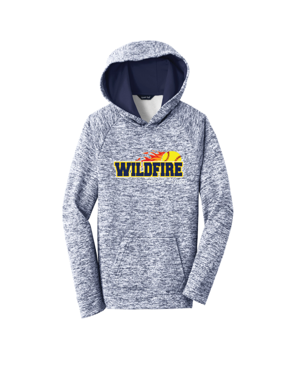Wildfire Softball Youth Electric Heather Fleece Hooded Pullover