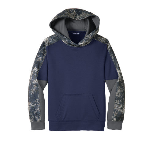 Devil Cats Sport-Tek Youth Sport-Wick Mineral Freeze Fleece Colorblock Hooded Pullover