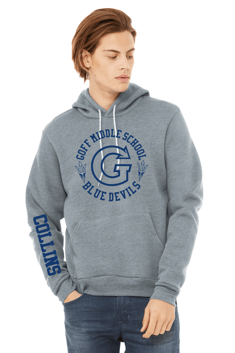 BELLA+CANVAS Unisex Sponge Fleece Pullover Hoodie