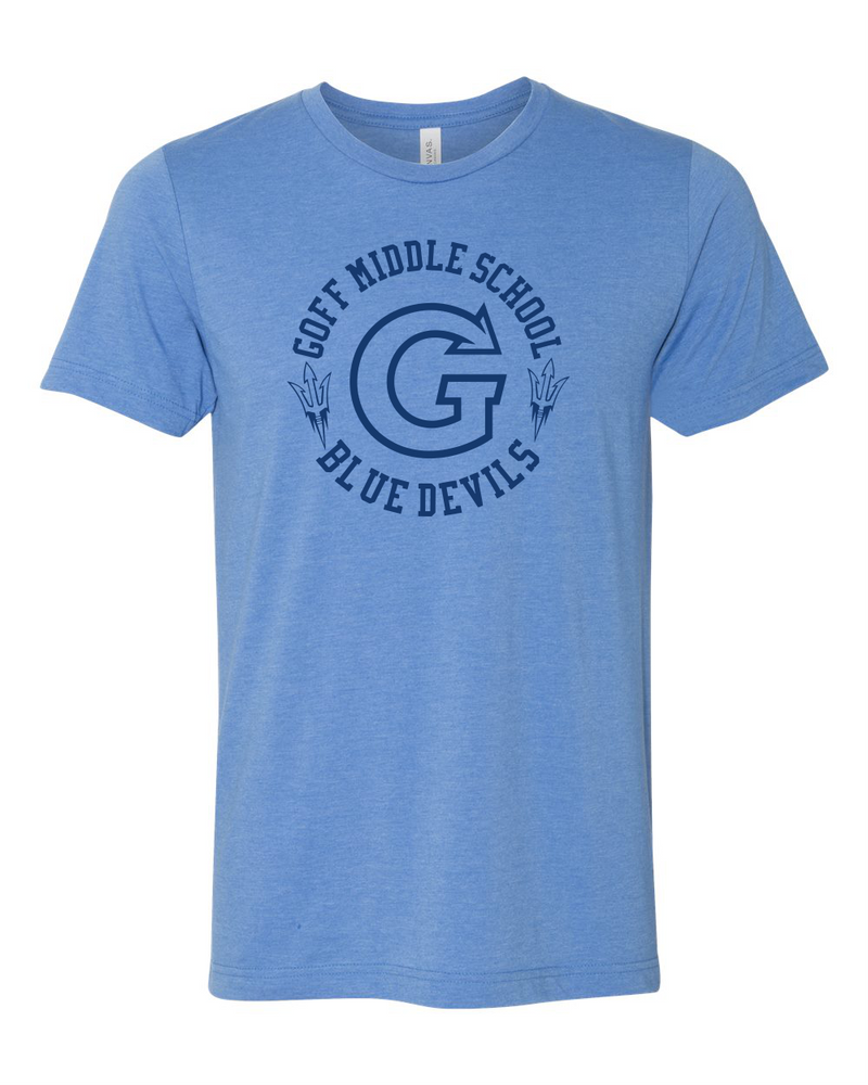 Goff BELLA+CANVAS  Adult & Youth Unisex Heather CVC Short Sleeve Tee