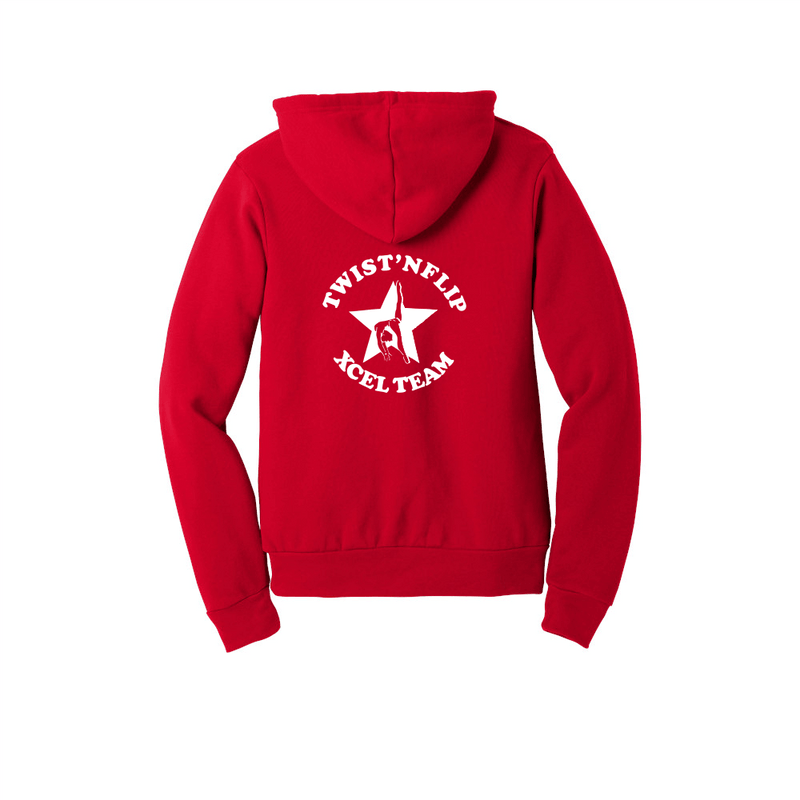 Twist 'N Flip Xcel Team BELLA+CANVAS ® Unisex Sponge Fleece Pullover Hoodie