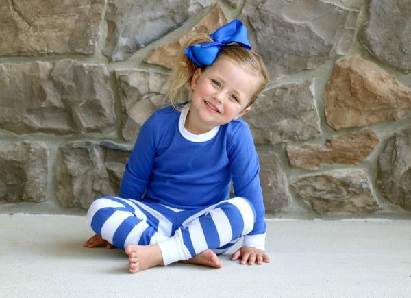 Blue and White Personalized Pajamas