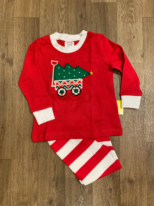 Wagon Christmas Pajama Set