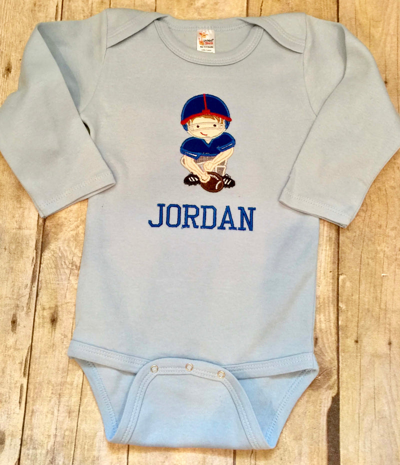 Baby Football Long Sleeve One Piece