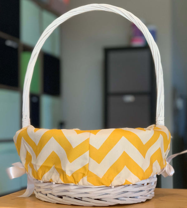 Personalized Chevron Lined Wood Easter Basket