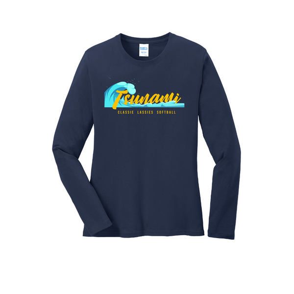 Tsunami Port & Company® Ladies Long Sleeve Core Cotton Tee