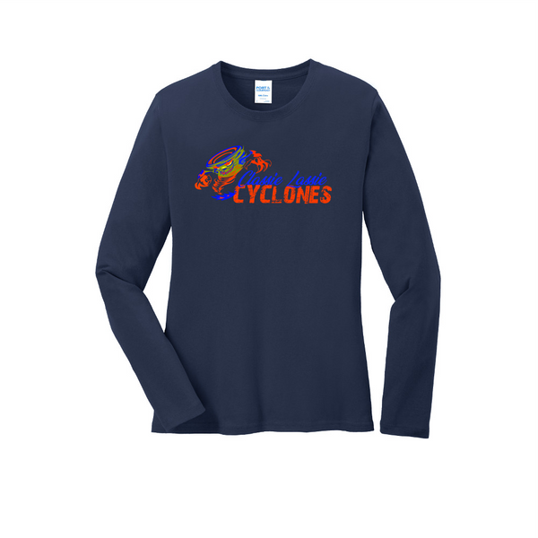 Cyclones Port & Company® Ladies Long Sleeve Core Cotton Tee