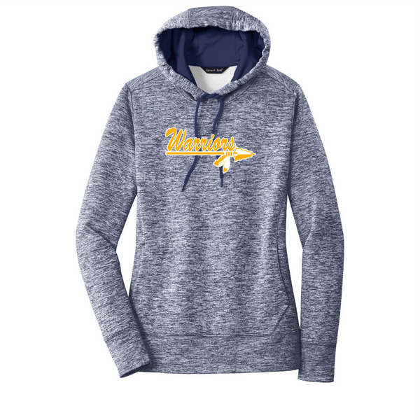 Warriors Ladies Electric Heather Fleece Hooded Pullover