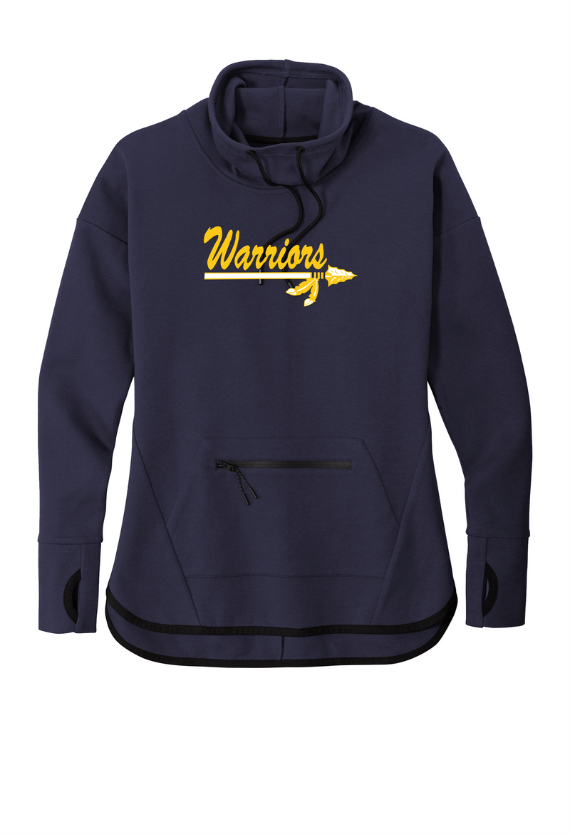 Warriors Sport-Tek ® Ladies Triumph Cowl Neck Pullover