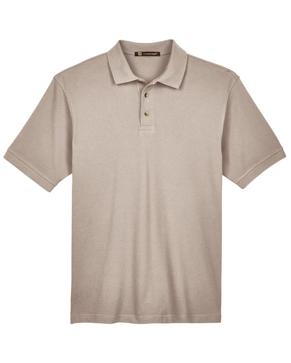 Harriton Men's 6 oz. Ringspun Cotton Piqué Short-Sleeve Polo