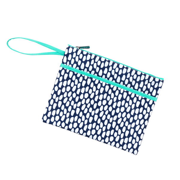 Tide Pool Zip Pouch Wristlet