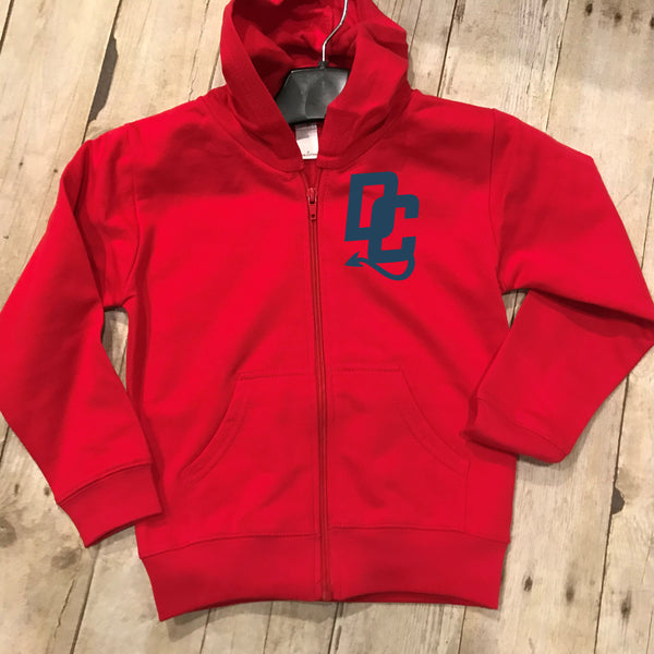 Devil Cats Youth Zip Up Fleece Hoodie