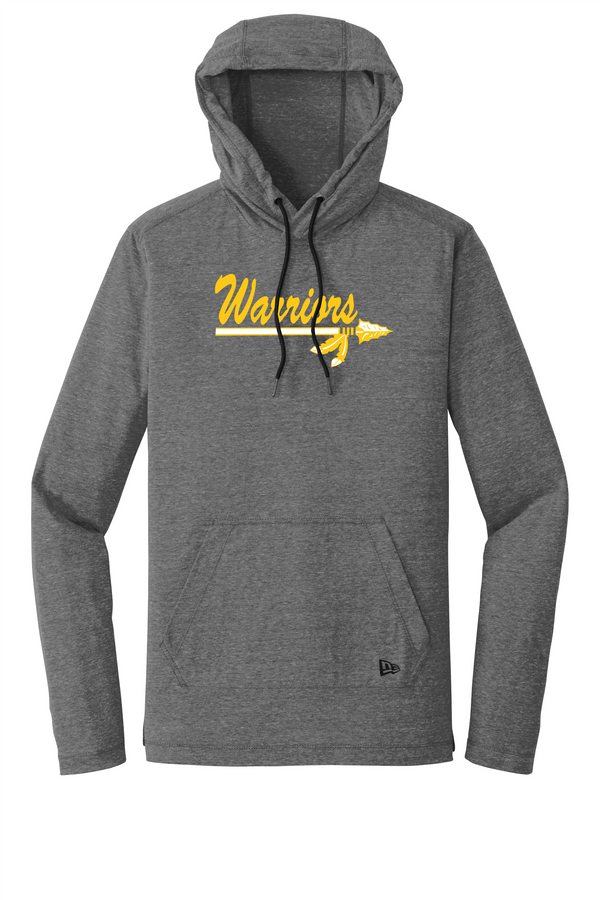 Warriors New Era Tri-Blend Performance Pullover Hoodie Tee