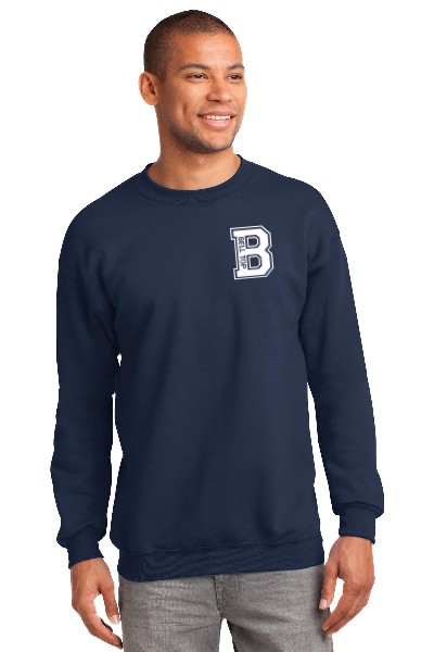 Bell Top Unisex Adult Port & Company Core  Fleece Crewneck Sweatshirt