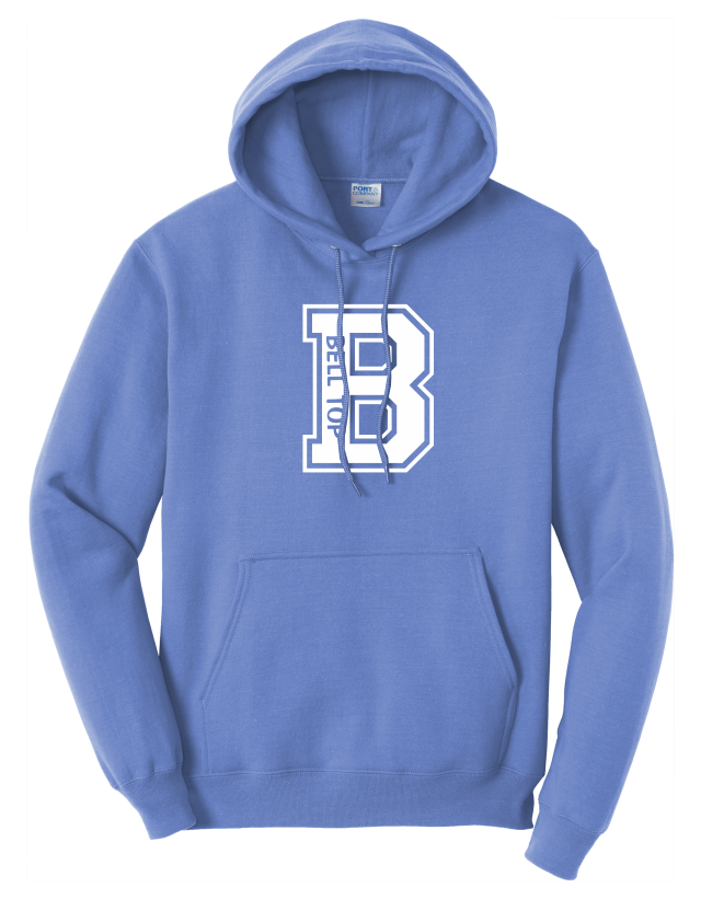 Bell Top Adult & Youth Core Fleece Pullover Hooded Sweatshirt