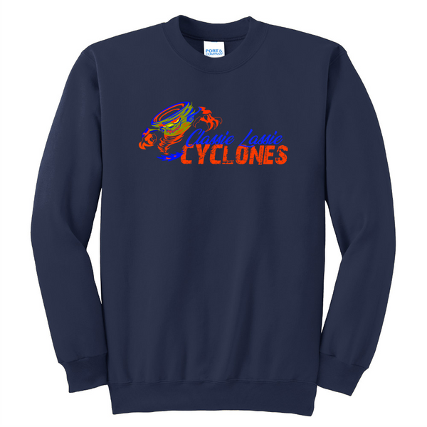 Cyclones Unisex Port & Company Essential Fleece Crewneck Sweatshirt