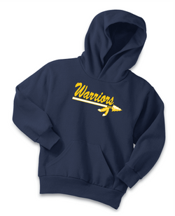 Warriors Port & Company Youth Core Fleece Pullover Hooded Sweatshirt