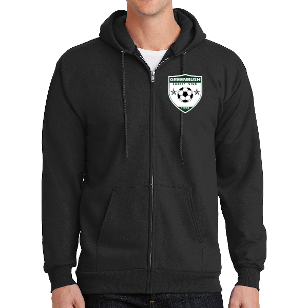 Greenbush Soccer Port & Company® - Essential Fleece Full-Zip Hooded Sweatshirt