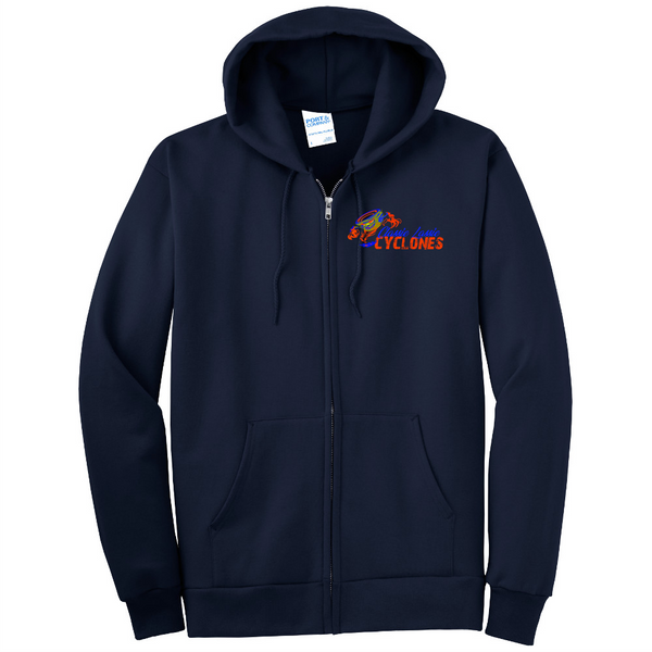 Cyclones Port & Company® - Essential Fleece Full-Zip Hooded Sweatshirt