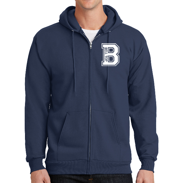 Bell Top Port & Company® - Essential Fleece Full-Zip Hooded Sweatshirt