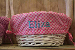 Gingham Personalized Easter Baskets