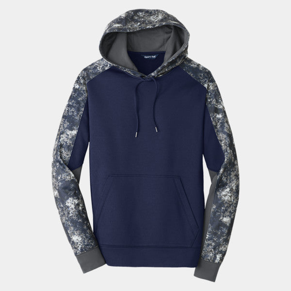 SPORT-TEK® SPORT-WICK® MINERAL FREEZE FLEECE COLORBLOCK HOODED PULLOVER