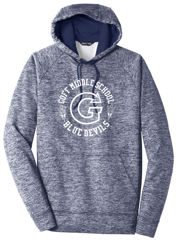 Goff Adult Sport-Tek® PosiCharge® Electric Heather Fleece Hooded Pullover
