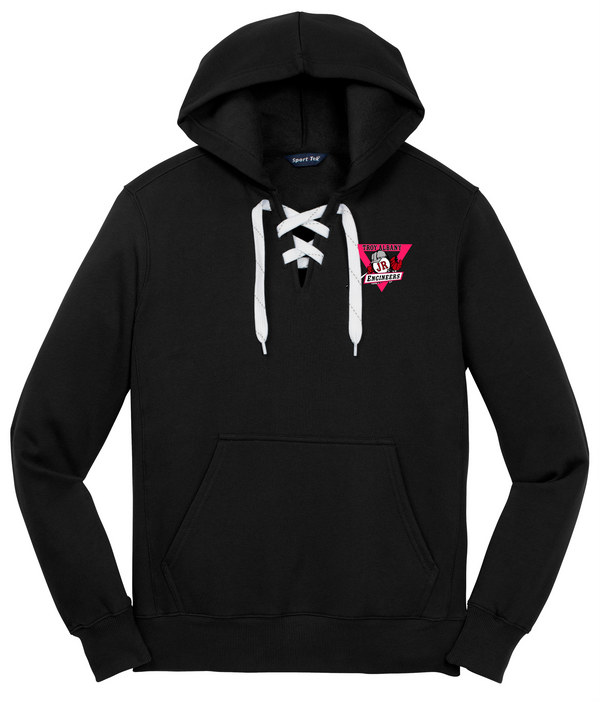 Troy Albany Sport-Tek Lace Up Pullover Hooded Sweatshirt