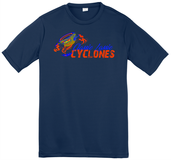 Cyclones Classie Lassie Spirit Wear Adult Performance Tee