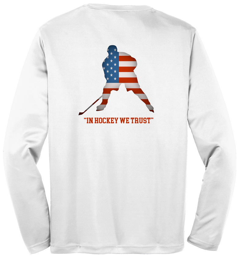 Hockey Player Sport-Tek  Long Sleeve PosiCharge Competitor Tee Adult & Youth