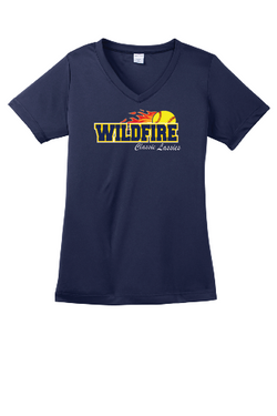 Wildfire Sport-Tek Ladies PosiCharge Competitor V-Neck Tee