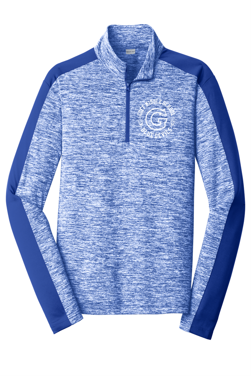 Goff Sport-Tek® PosiCharge® Adult Electric Heather Colorblock 1/4-Zip Pullover