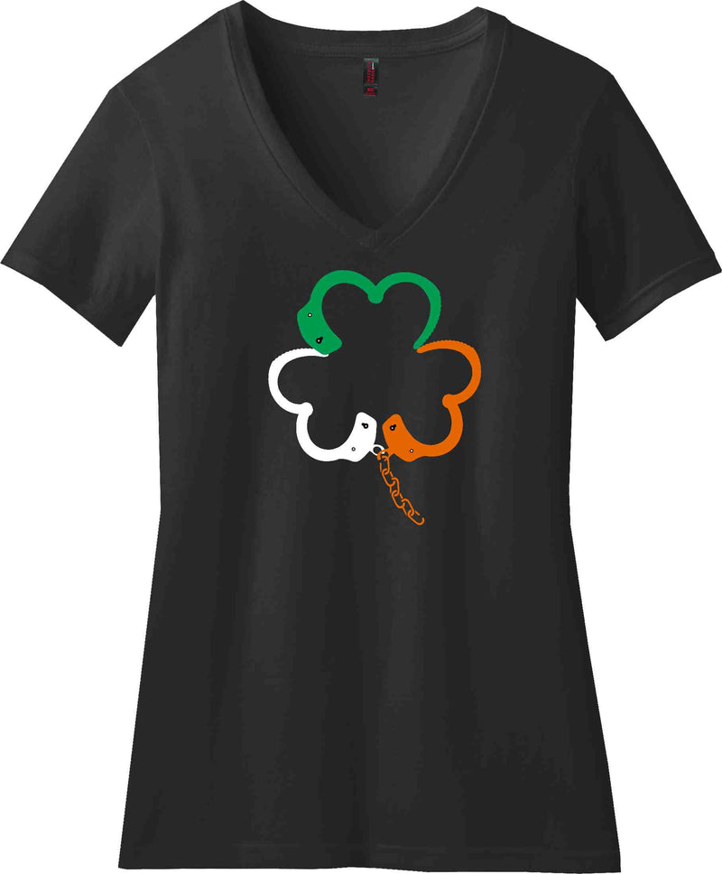 St. Patty's Handcuff Shamrock Tee