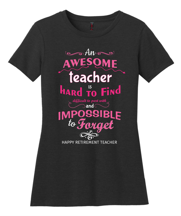 Awesome Teacher Ladies Tee
