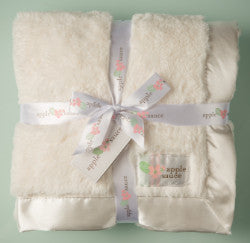Birth Block Satin Trimmed Baby Blanket