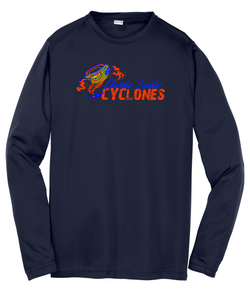 Cyclones Sport-Tek® Youth Long Sleeve PosiCharge® Competitor™ Tee