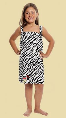 Girl's Terry Velour Animal Printed Swim Coverup