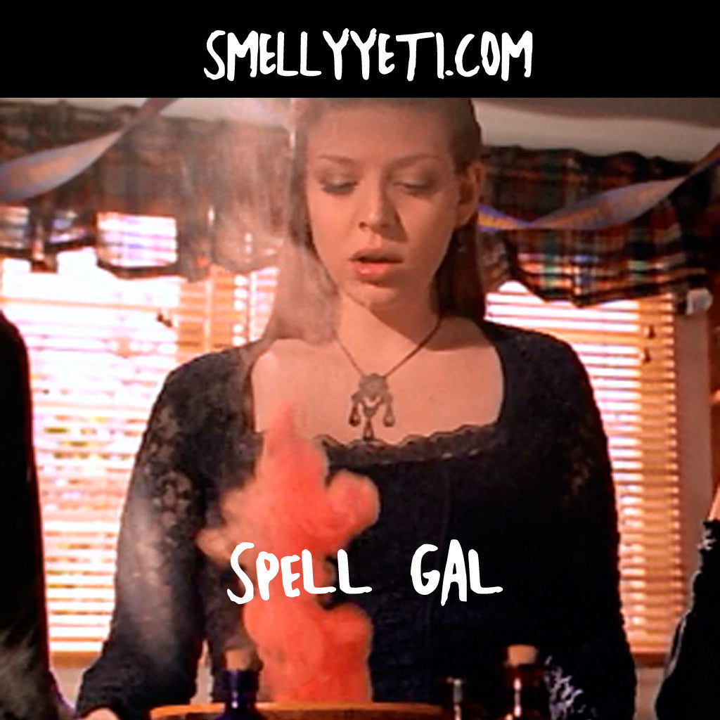 Spell Gal - Tara observes a potion as it spews red smoke