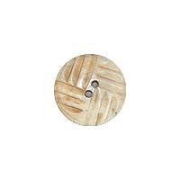 Round / Patterned - Log Cabin Design  / Matte Button
