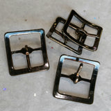 Small Gunmetal Buckle / 20mm / .75""