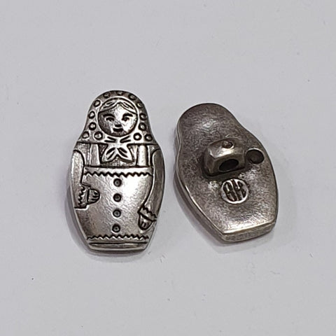 Matryoshka / Russian Doll / ABS metal coated / Shank