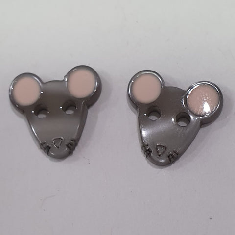 Grey Mouse / Polyester / 2 Hole