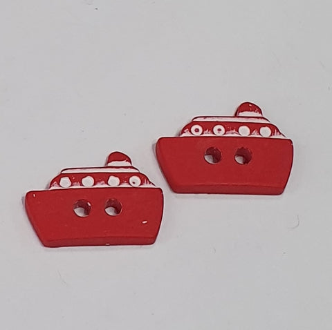 Red Ship / Polyester / 2 Hole