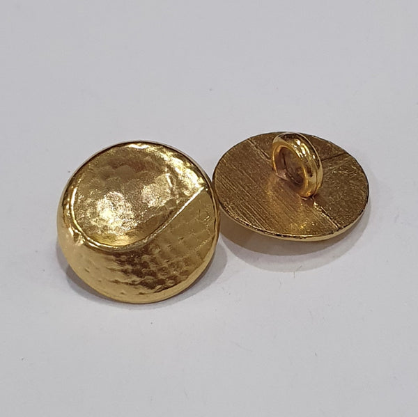 Gold Shirt Button / Swirl