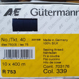 Gutermann 100% SILK Sewing Thread - 400m