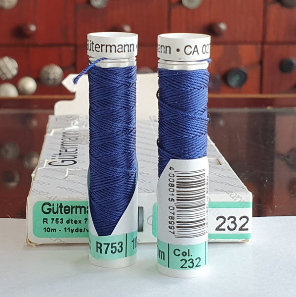 Royal Blue - Gutermann Buttonhole Silk Twist / 10m spool