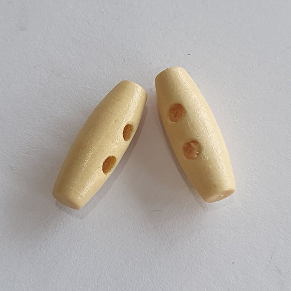 Wooden Toggles / 2 Hole / 3 Colours