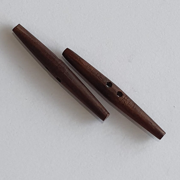 Wooden Toggles / 2 Hole / 2 sizes