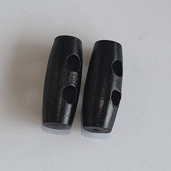 Black Wooden Toggles / 2 Hole
