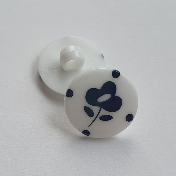 Flower Buttons - Plastic